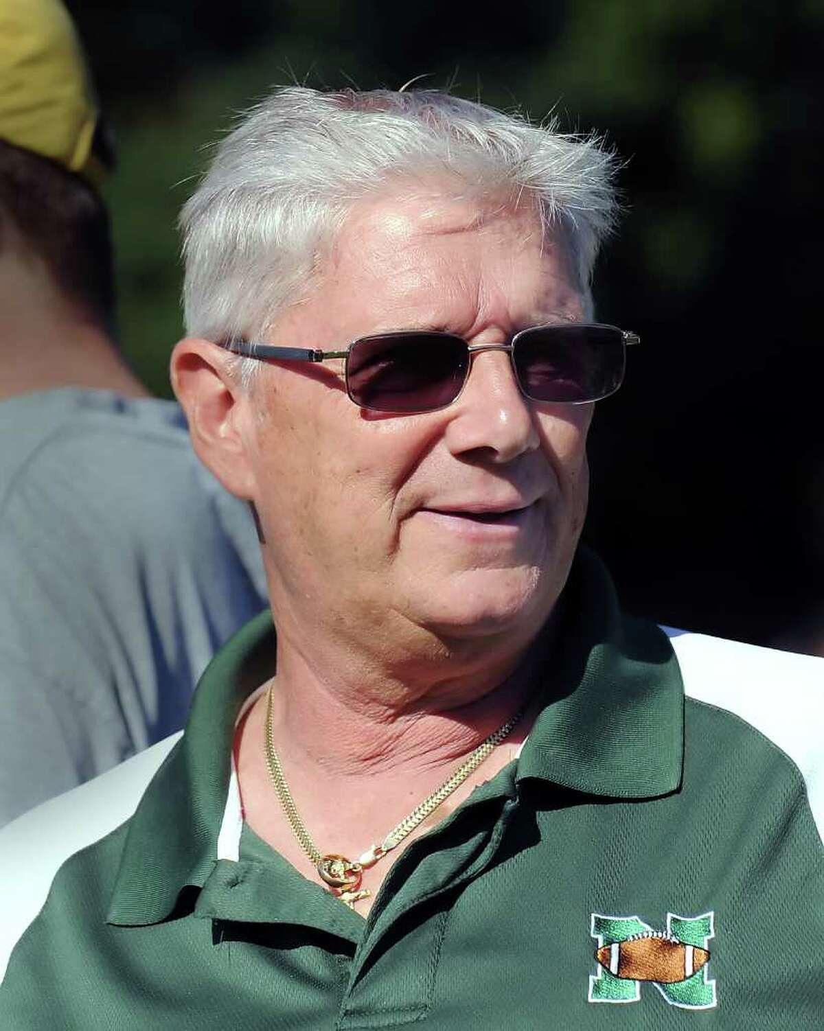 Norwalk High School head football coach, Pete Tucci, during football jamboree at Wilton High School, Saturday morning, Sept. 4, 2010.