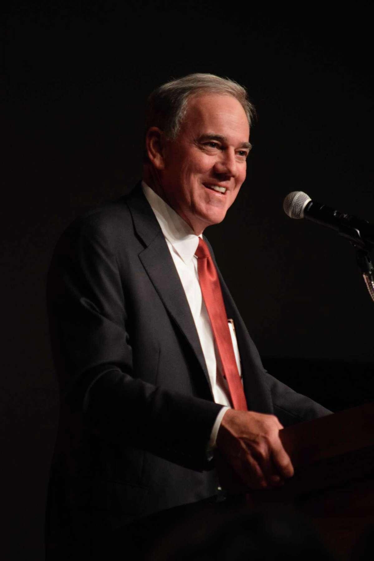Valero CEO Joseph Gorder speaks at an Energy Summit in San Antonio on Thursday, May 31, 2018.