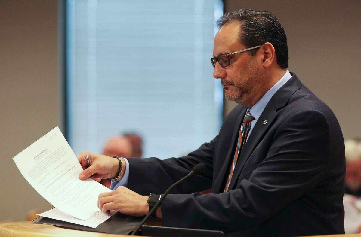 Montgomery County Director of Purchasing Gilbert Jalomo, seen in this file photo, presented information to commissioners Tuesday regarding towing and loaner car vendors.