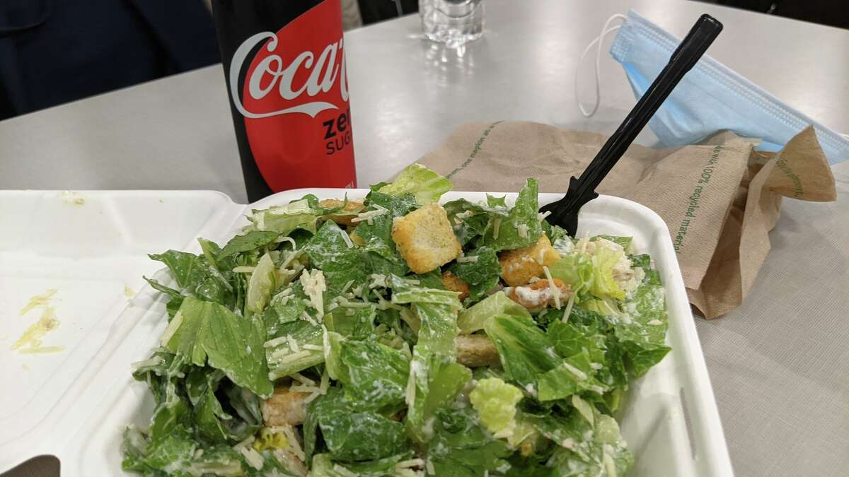 This salad is massive and sad.