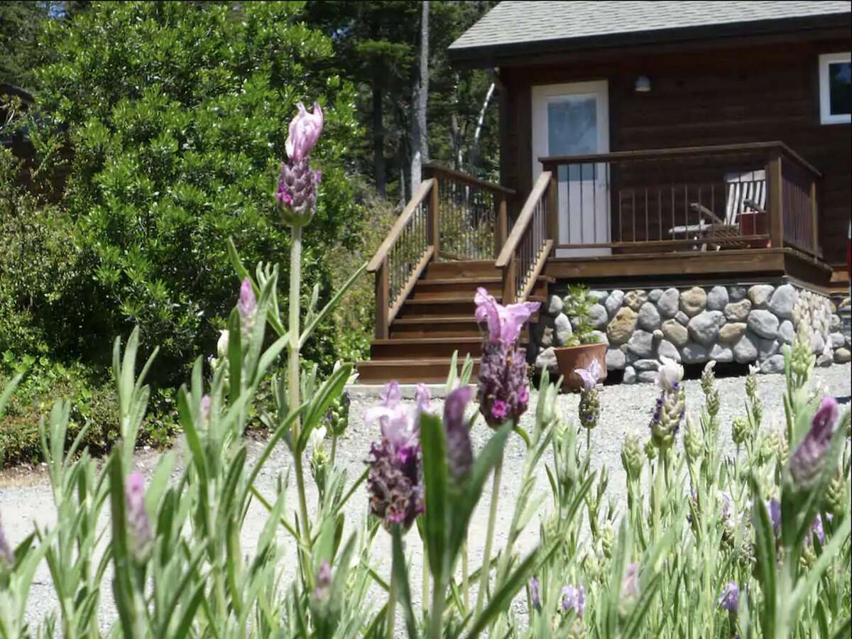The exterior of the Mendocino cabin.