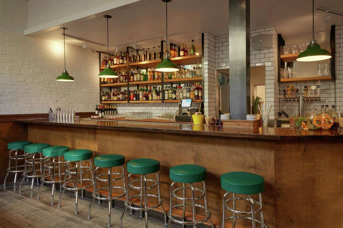 The interior of Afterwork Bar, a new laid-back bar in San Francisco's Hayes Valley from Back of the House restaurant group.