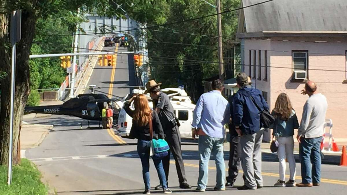 """On location in Kingston Rondout with HBO's """"The Undoing,"""" starring Nicole Kidman, Hugh Grant and Donald Sutherland."""
