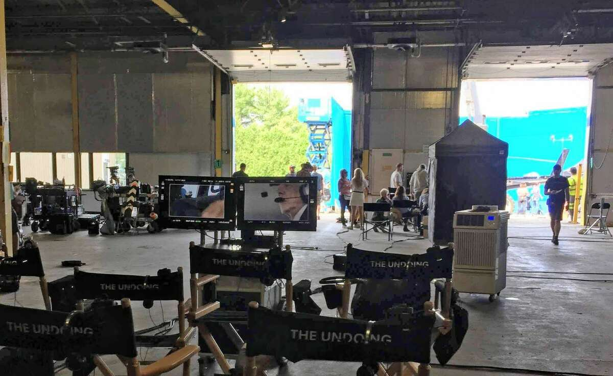"""On location at Tech City BUILDING 64 with HBO's """"The Undoing,"""" starring Nicole Kidman, Hugh Grant and Donald Sutherland."""