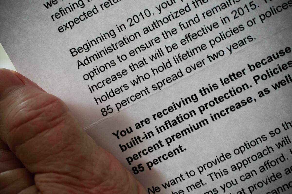 The 2013 letter from CalPERS informing policyholders of the 85% increase in long-term care insurance premiums.