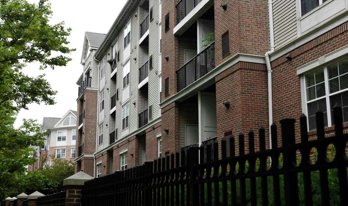 The Parc Grove apartment complex at 200 Broad St., in downtown Stamford, Conn., photographed on Tuesday, July 13, 2021. The 402-unit property has sold for $154 million, ranking as Stamford's largest property sale of 2021.