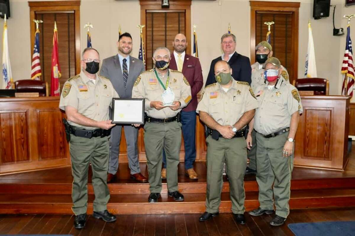 Webb County Judge Tano Tijerina and the Commissioners Court recognized Sheriff Martin Cuellar for having passed the Texas Commission on Jail Standards inspection for 13 consecutive years.