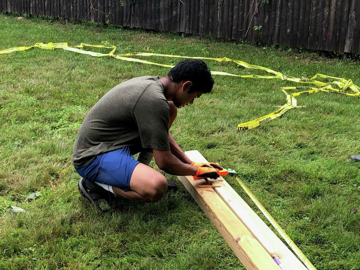 Aryan Maheshwari, fitness fanatic and sophomore at Fairfield Ludlowe High School, is building an outdoor fitness center at Veres Park for his Eagle Scout Project.
