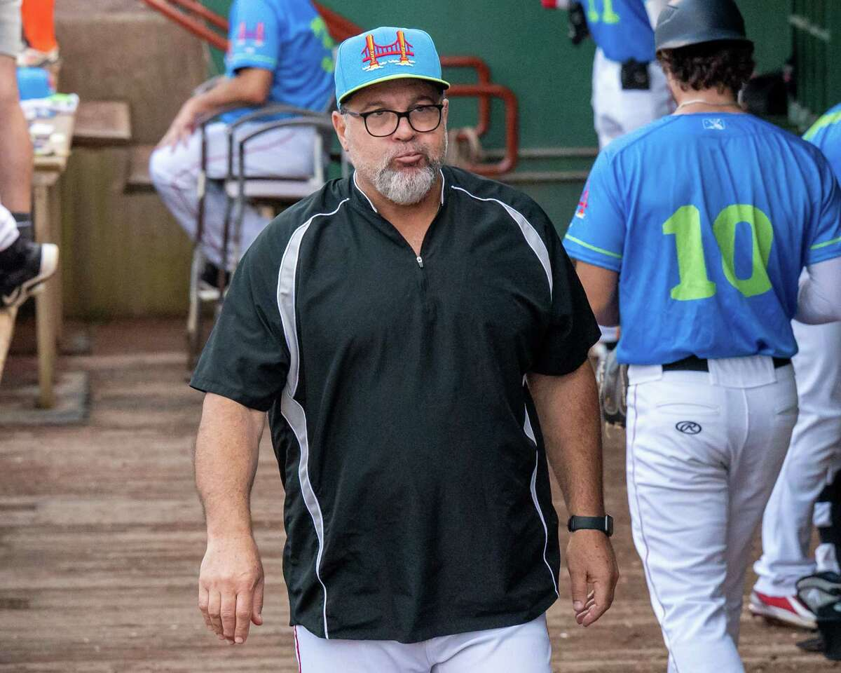 Tri-City ValleyCats manager Pete Incaviglia, shown during a July 13, 2021 game, said after a 12-1 win over the New York Boulders on July 27 that the ValleyCats are as talented as any team in the Frontier League. (Jim Franco/Special to the Times Union)