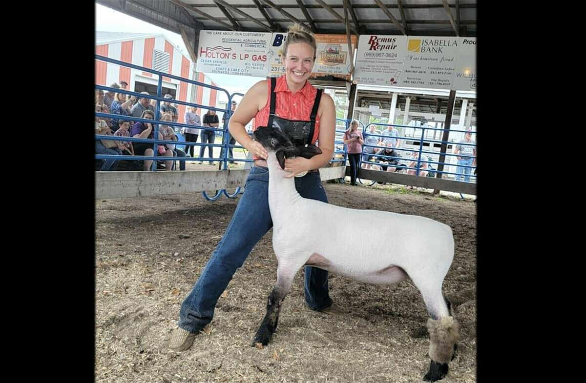 Lauren Marfio plans to sell her Reserve Champion sheep Thursday at Mecosta County's Junior Livestock Auction. She plans to donate her proceeds to the Pritchard familyto help them with anymedical expenses. Riley Pritchard, 19, was seriously hurt in a car crash in late June.