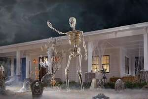 12 Ft Giant-Sized Skeleton with LifeEyes, $299 at Home Depot