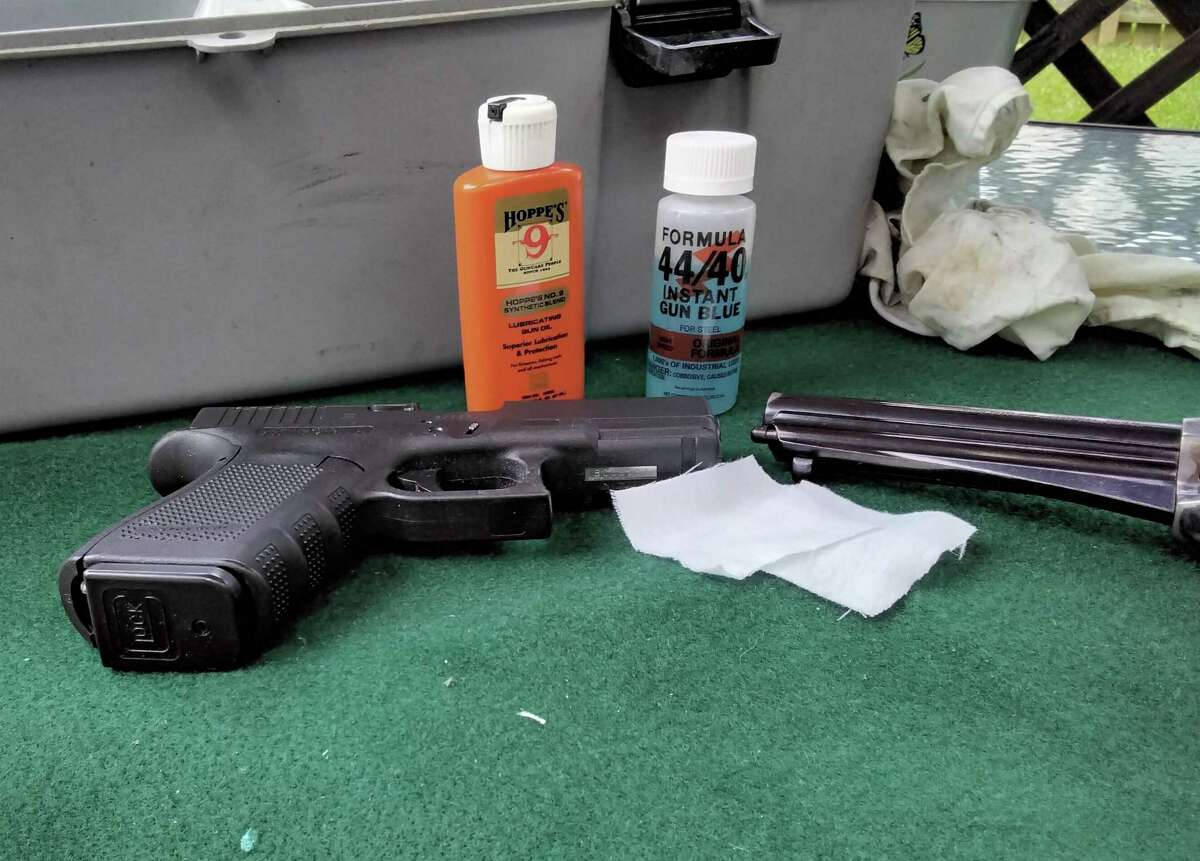 Touch up the finish wear places on guns is made easy with Brownell's 44/40, then lightly oil with gun oil.