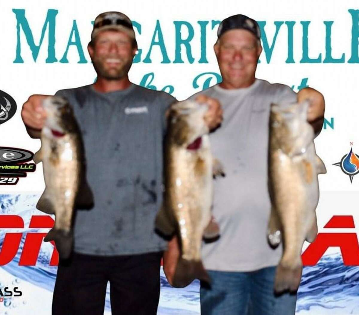 David and Cody Hall came in first place in the CONROEBASS Tuesday Tournament with a weight of 15.60 pounds.