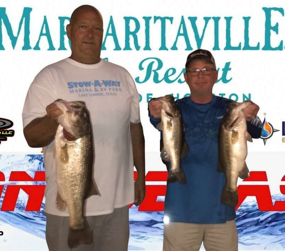 Vince Anderson and Rusty Lawson came in second place in the CONROEBASS Tuesday Tournament with a weight of 13.44 pounds.