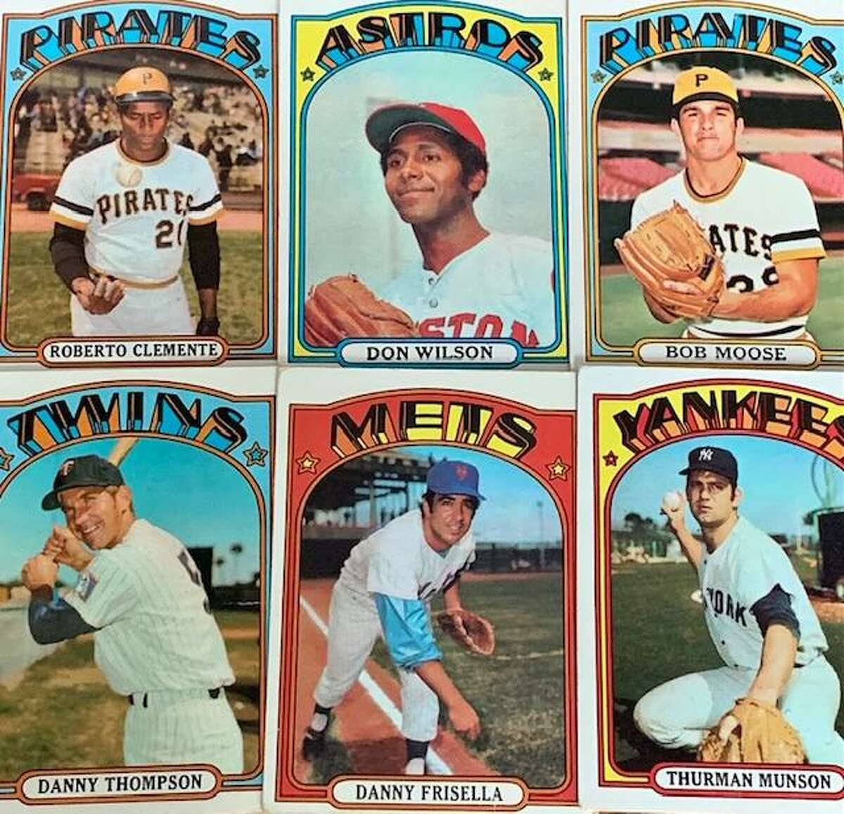 Pirates great Roberto Clemente was the first of six players from the 1972 Topps baseball card set to die while still active in the major leagues.