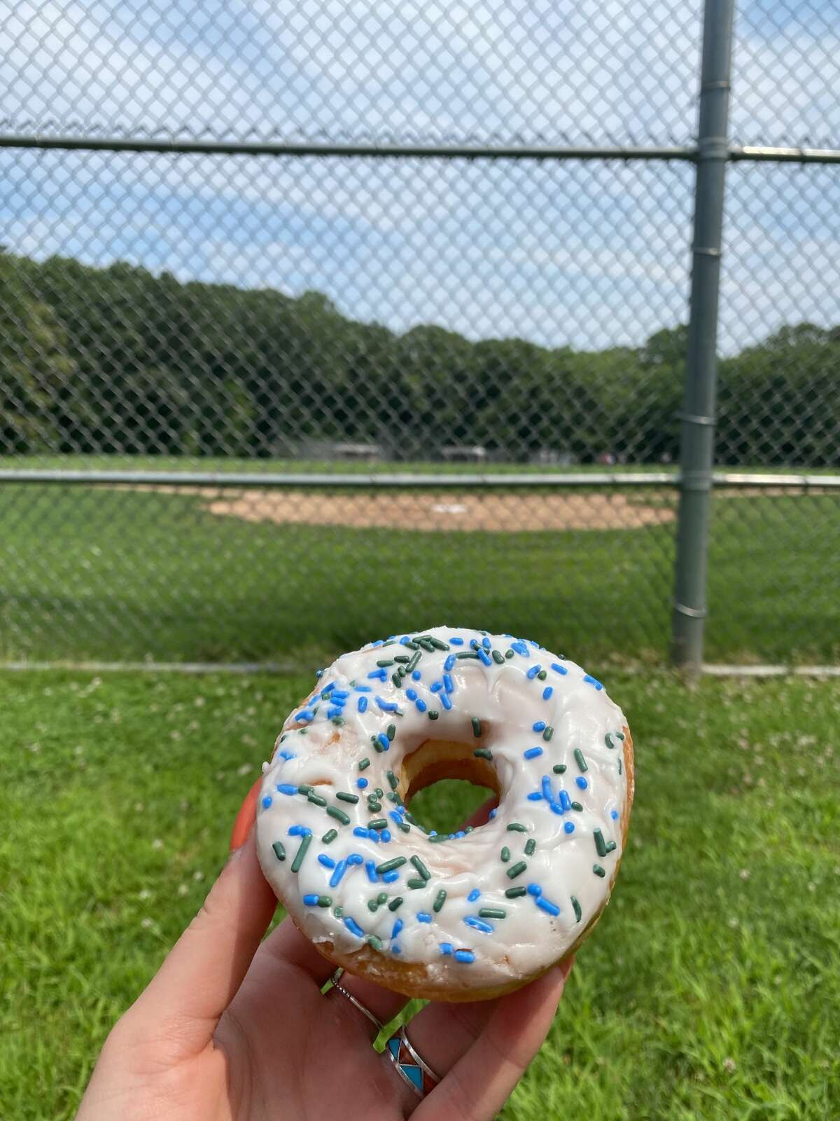"""The """"GOAT"""" donut inspired by the Hartford Yard Goats."""