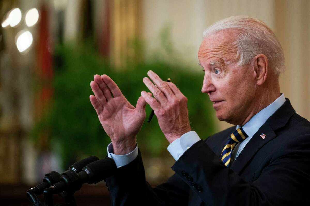 President Joe Biden speaks about his decision to withdraw troops from Afghanistan at the White House on July 8. Biden may reap the whirlwind from his poorly thought-out Afghan withdrawal.