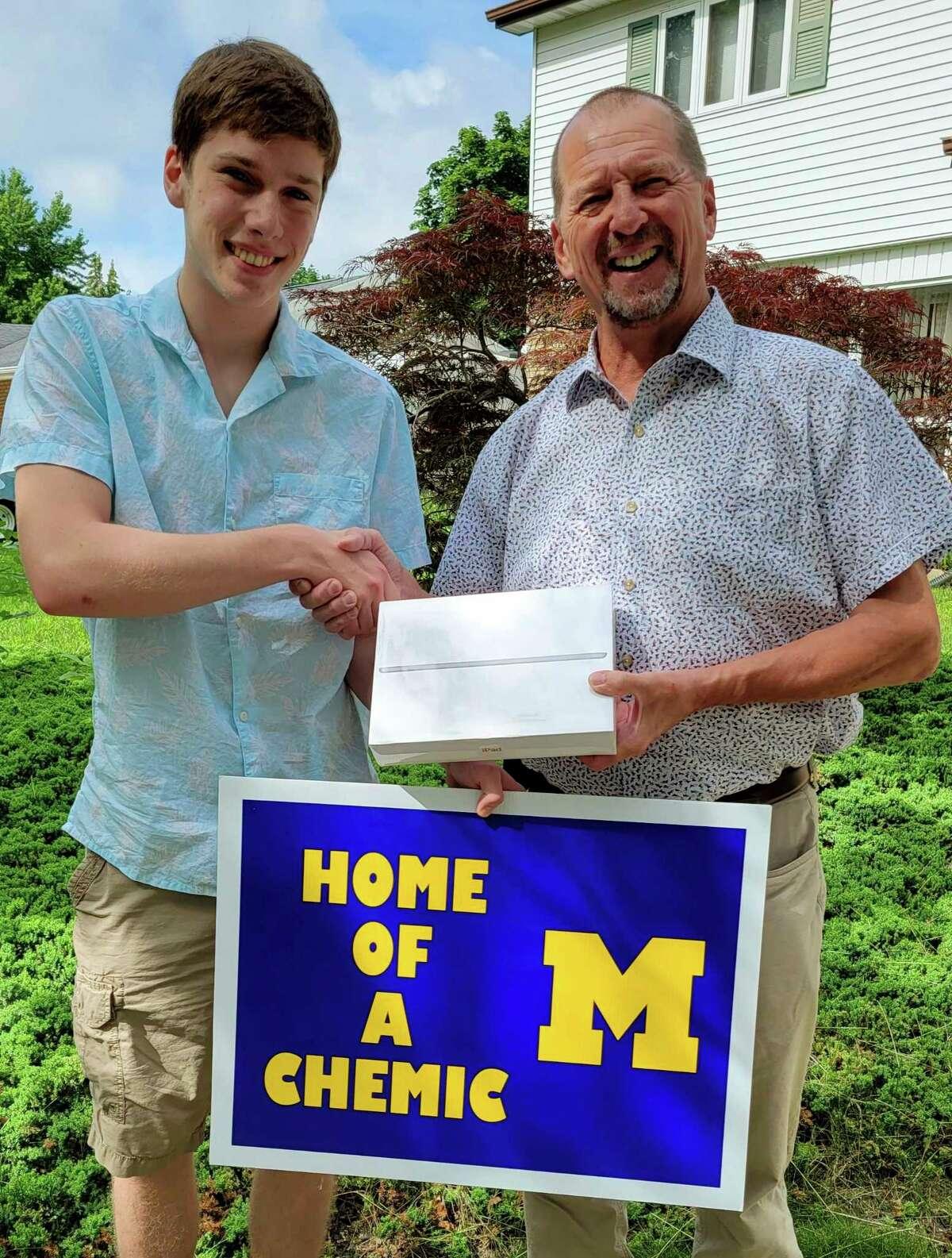 Brendan Weihl, Midland High School Senior and Scott Withrow. (Photo provided)
