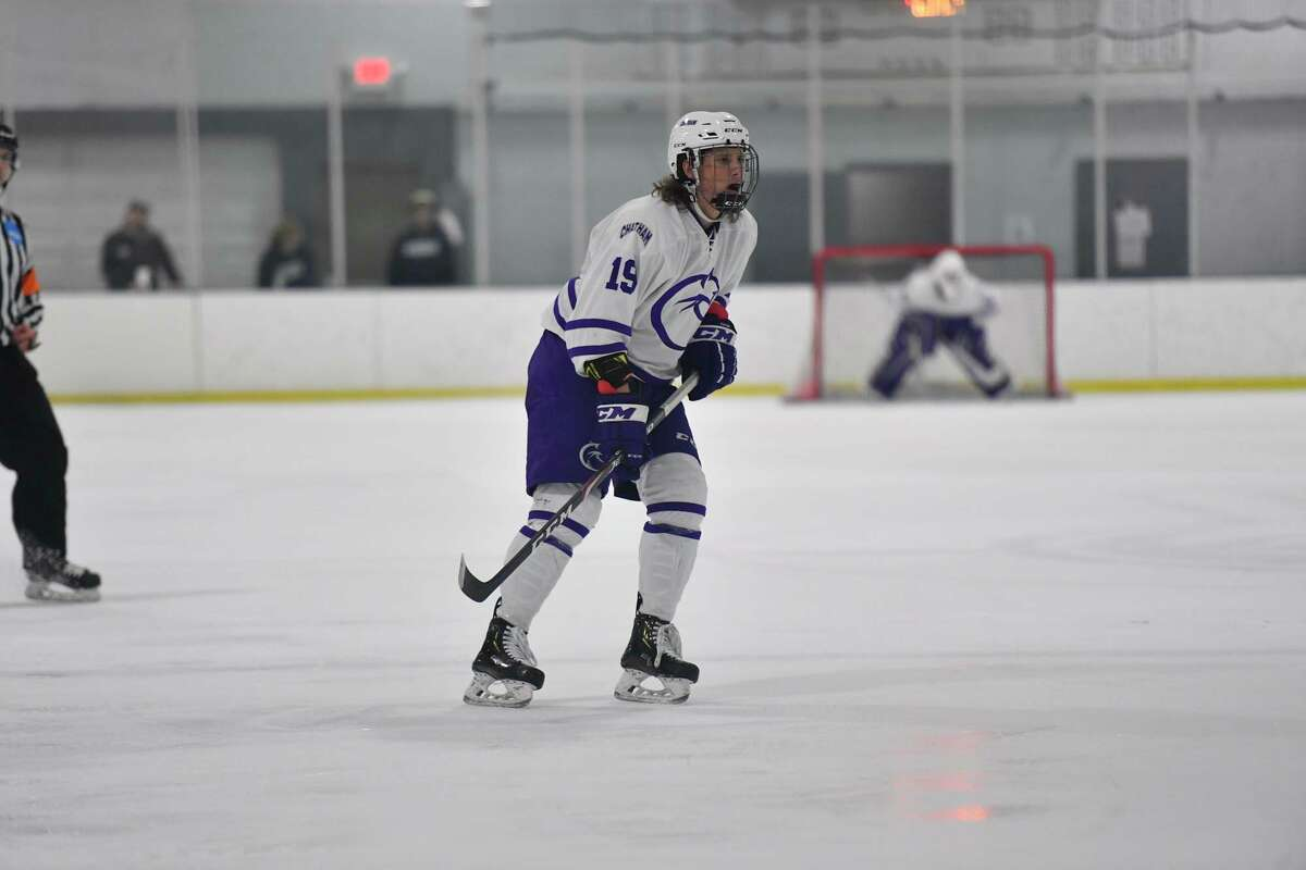 Lucas Rothe went to college to continue playing hockey and became a two-sport athlete. (Chatham University/Courtesy Photo)