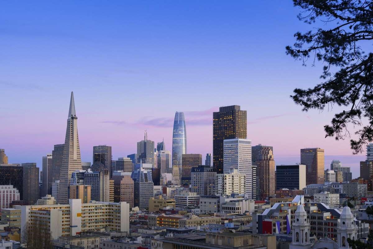 The San Francisco, Calif. skyline.