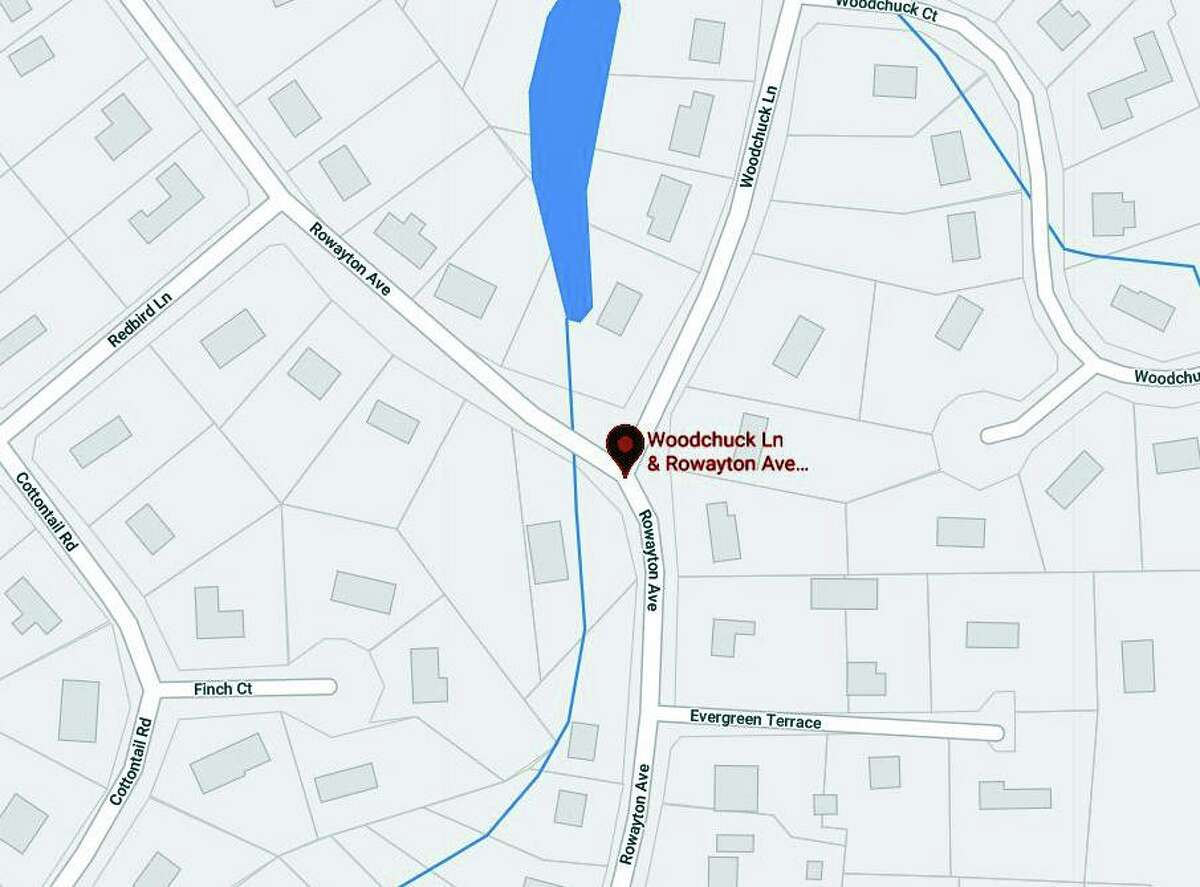 A detour is in place at the intersection of Rowayton Avenue and Woodchuck Lane in Norwalk, Conn., on Wednesday, July 14, 2021, officials said.