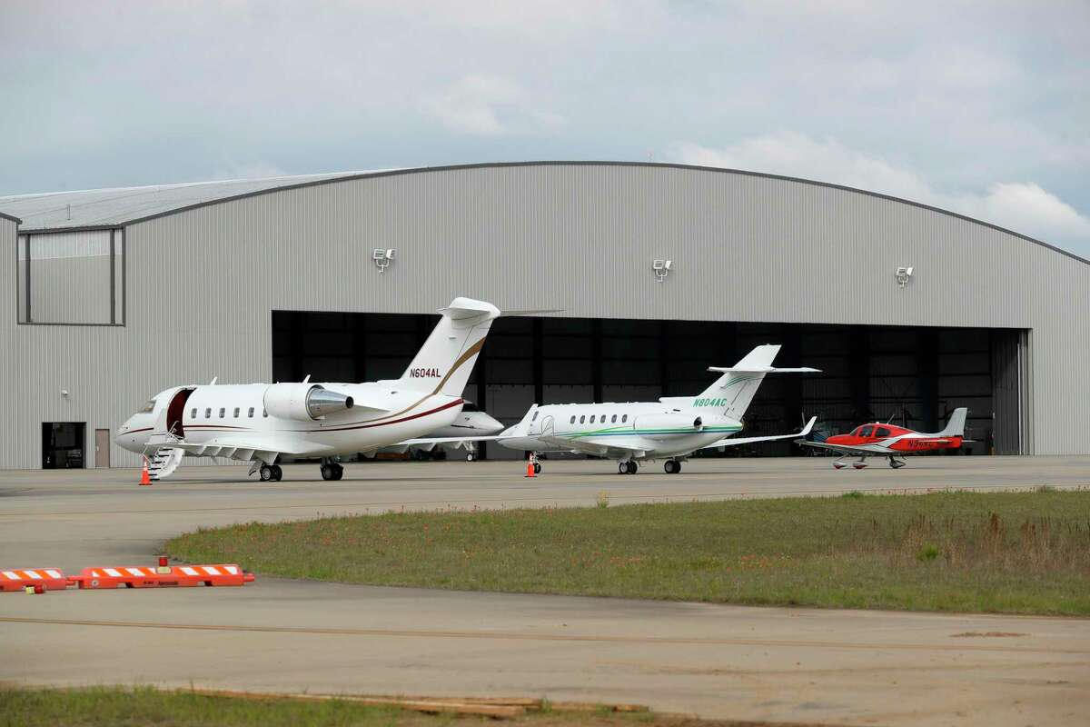 Aircraft are seen at Conroe-North Houston Regional Airport in March in Conroe. Montgomery County commissioners agreed to use its fund balance to pay its lease of an airport hangar after learning the county was two months in arrears.