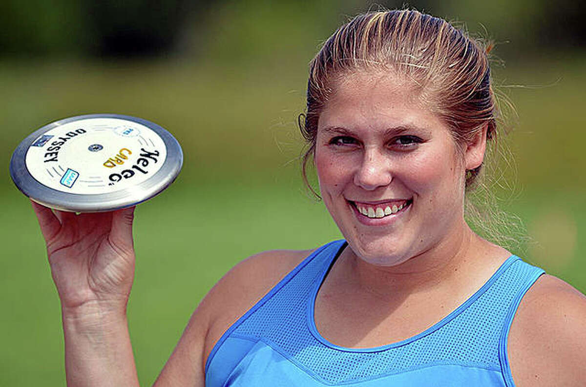 Former Carlinville High School and University of Wisconsin throwing standout Kelsey Card will compete in her second consecutive Olympic Games later this month in the discus at the Tokyo Summer Games.