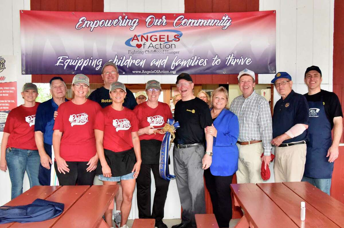 The barbecue chicken booth at the Mecosta County Fair, a long standing tradition run by the Big Rapids Rotary Club has been handed over to the Angels of Action. (Photo courtesy of Joe Crew)