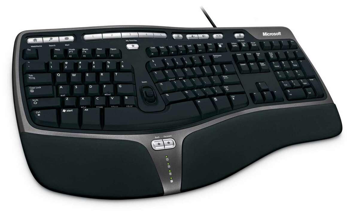 The Microsoft Natural Ergonomic Keyboard 4000.