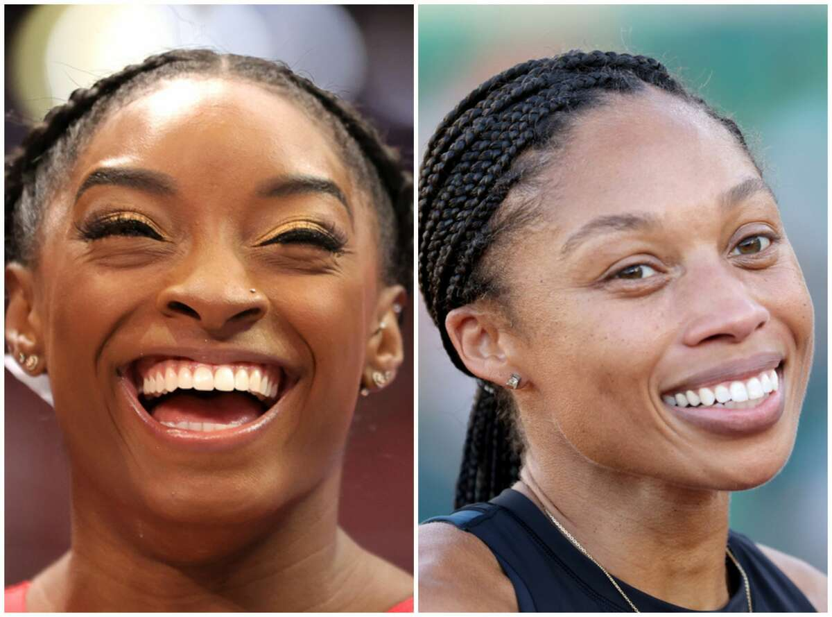 The two athletes wished each other well in their quest of Olympics gold.