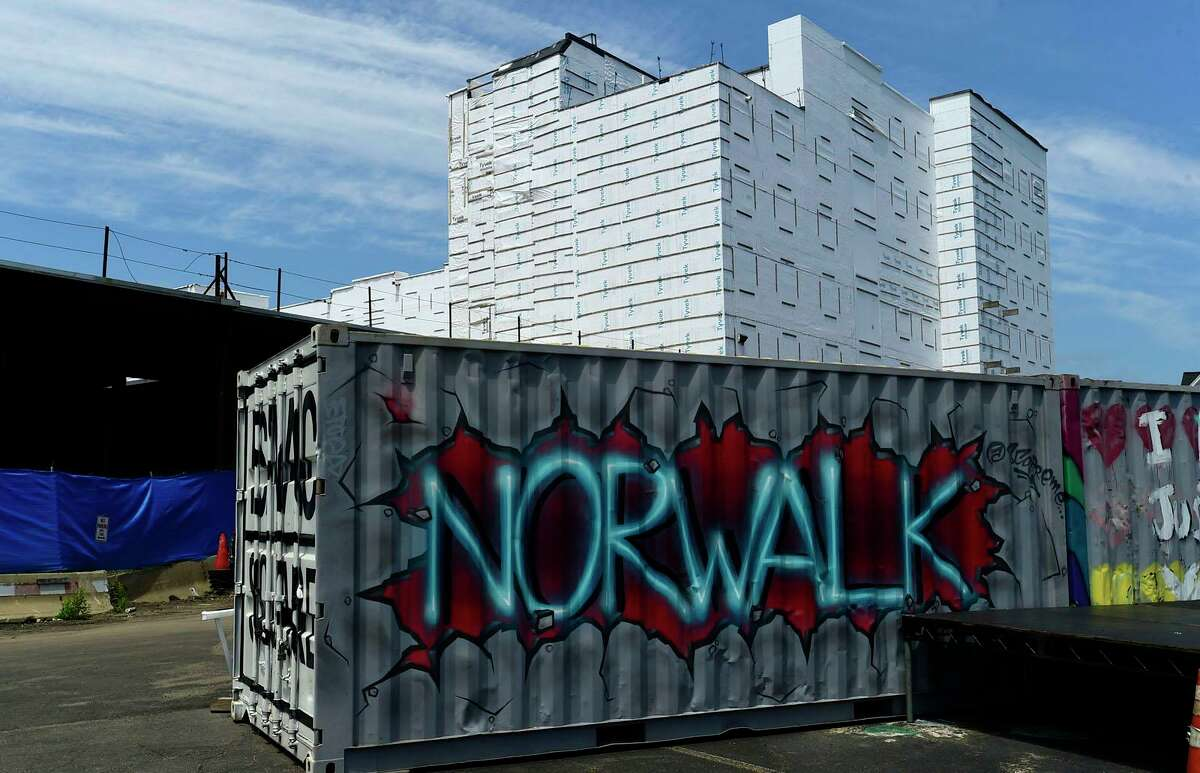 The former PoKo development on Wall Street and Isaac Street Wednesday, July 14, 2021, in Norwalk, Conn. The City of Norwalk reached a settlement in an issue that has been going on since 2004 about taking a piece of property for the POKO development.