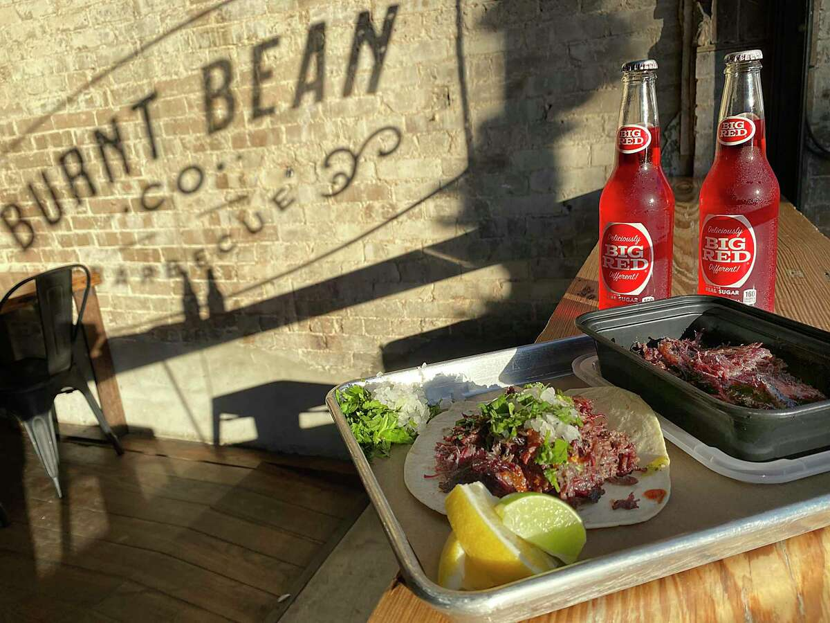 Barbacoa and Big Red round out the barbecue menu at Burnt Bean Co. in Seguin, and is a Sunday specialty.