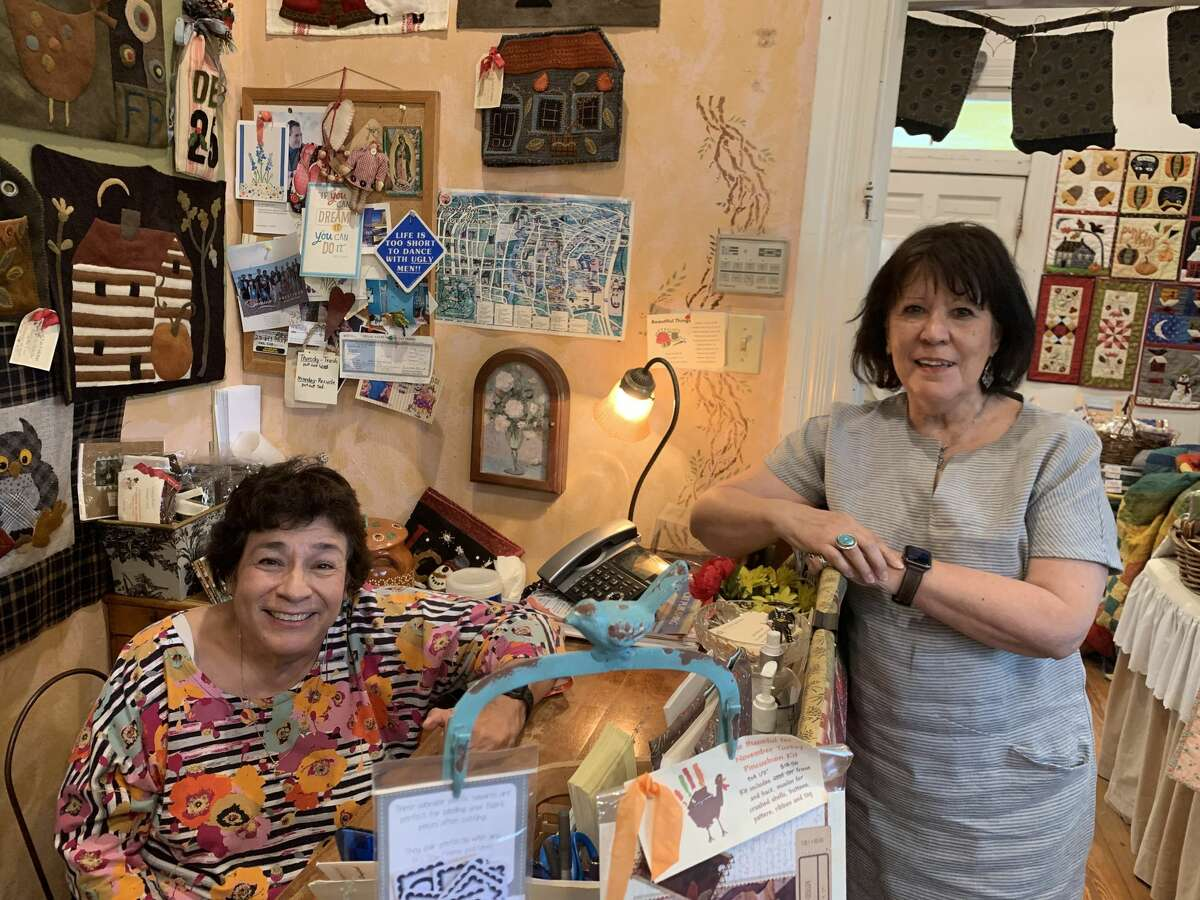 Toni (left) and Francine (right) are the longtime owners of the hidden quilting treasure connected  July 14, 2021.