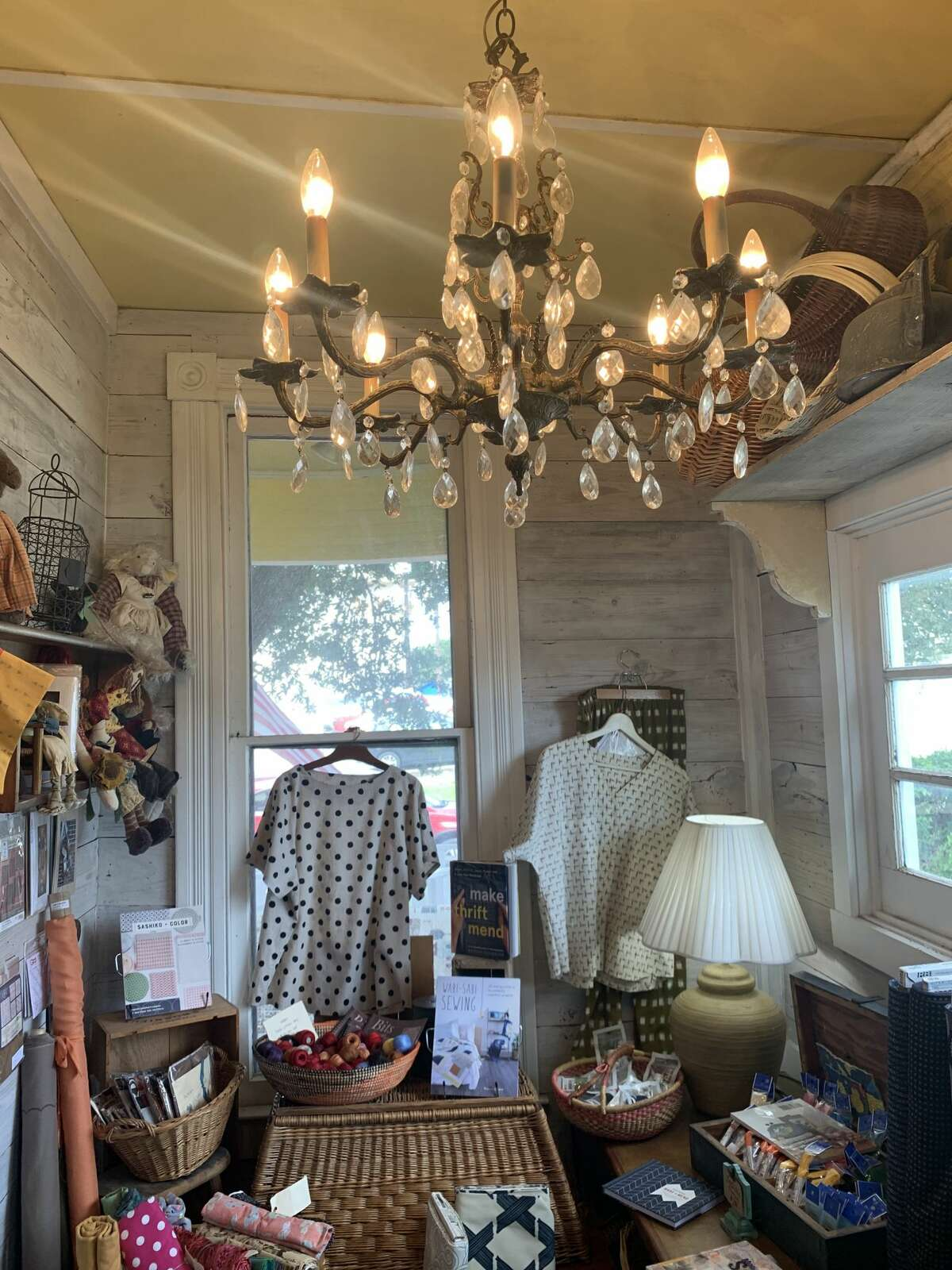 The store  is filled with antique pieces of lighting and furnishings  to lucifer  the lukewarm  feel.