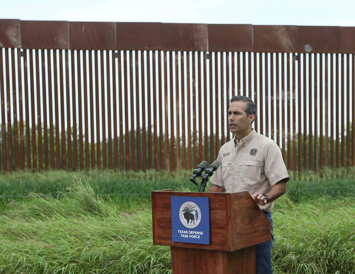 Land Commissioner George P. Bush announces his lawsuit Wednesday against the Biden administration over the border wall.