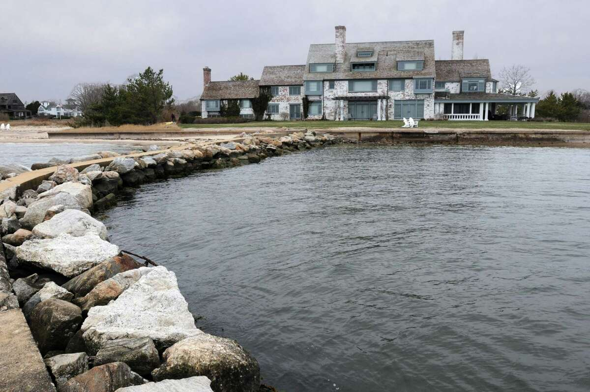 FILE PHOTO: The former Katharine Hepburn house in Old Saybrook. A survey found that nearly one-third of Old Saybrook residents struggle to afford housing. Now, the town has a plan to build cheaper alternatives.