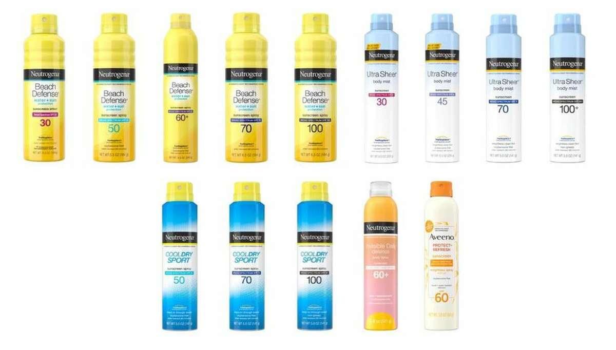 The spray sunscreens that Johnson & Johnson is recalling.