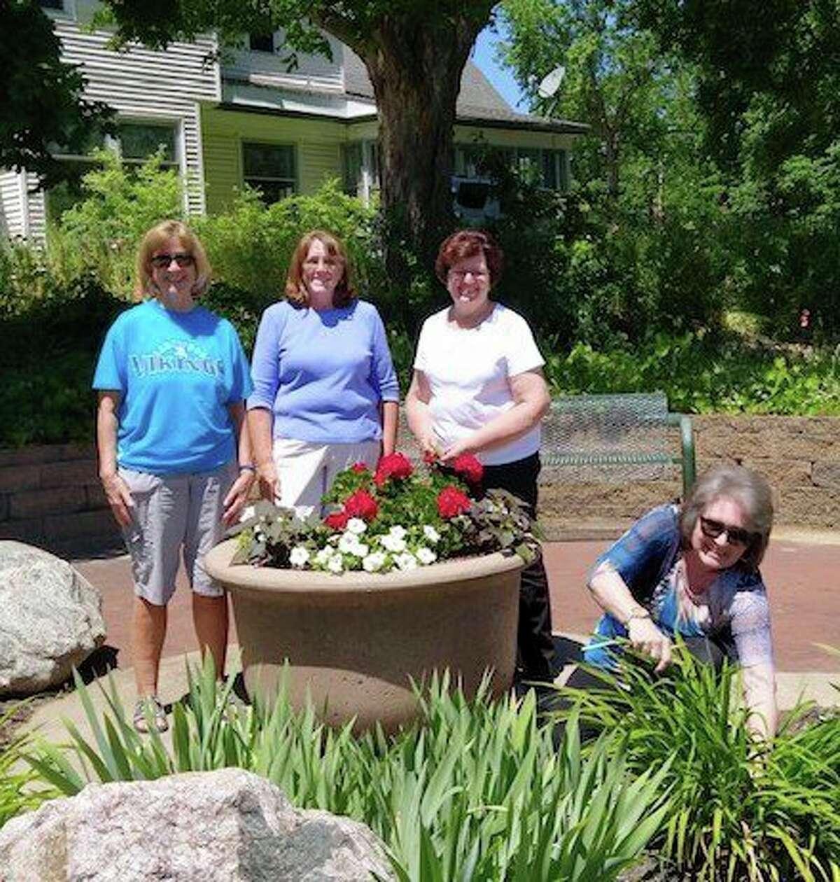 Pictured are GFWC Members Celeste Szczeroswki, Ann Stellard, Linda Telfer and Sue Johnson. Not pictured is Carrie Franklund and Beth Martz. (Courtesy photo)