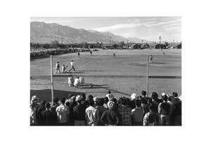 Ansel Adams, Baseball, 1943-44. Gelatin silver print (printed later). Photo courtesy Landau Traveling Exhibitions