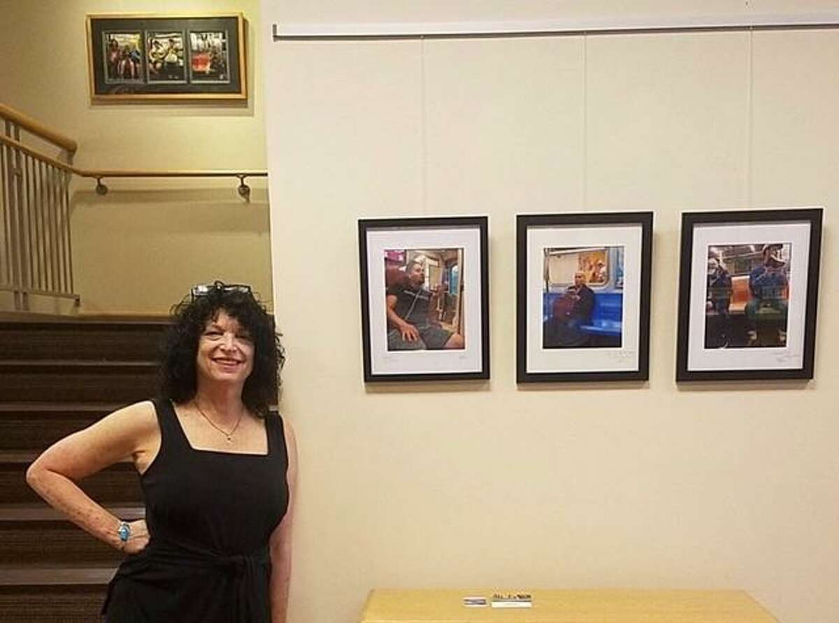 """Photographer, Barbara (Bobbie) Loss is exhibiting her subway series, """"Over and Under the Rails"""" at the Fairfield University Bookstore Stairwell Gallery throughout July. It's curated by Lee Walther."""