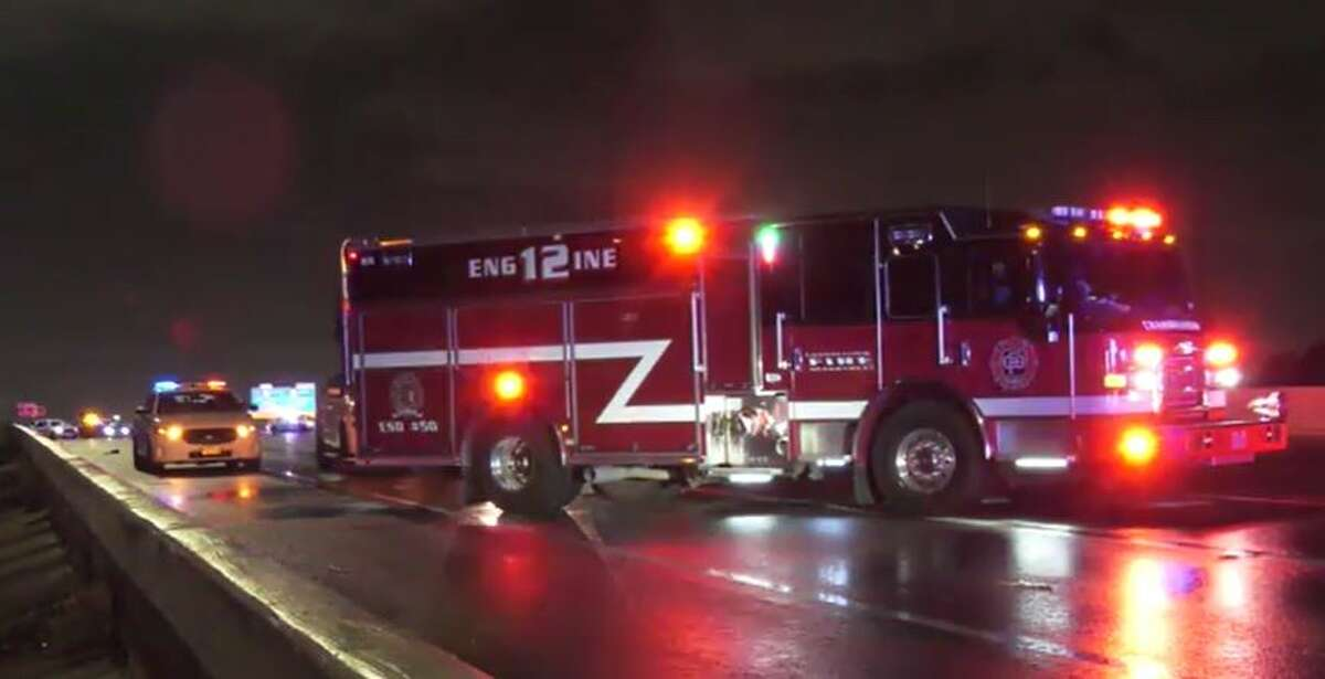 Officials investigating a fatal hit-and-run collision late Wednesday, July 14, on the East Freeway near Cloverleaf.