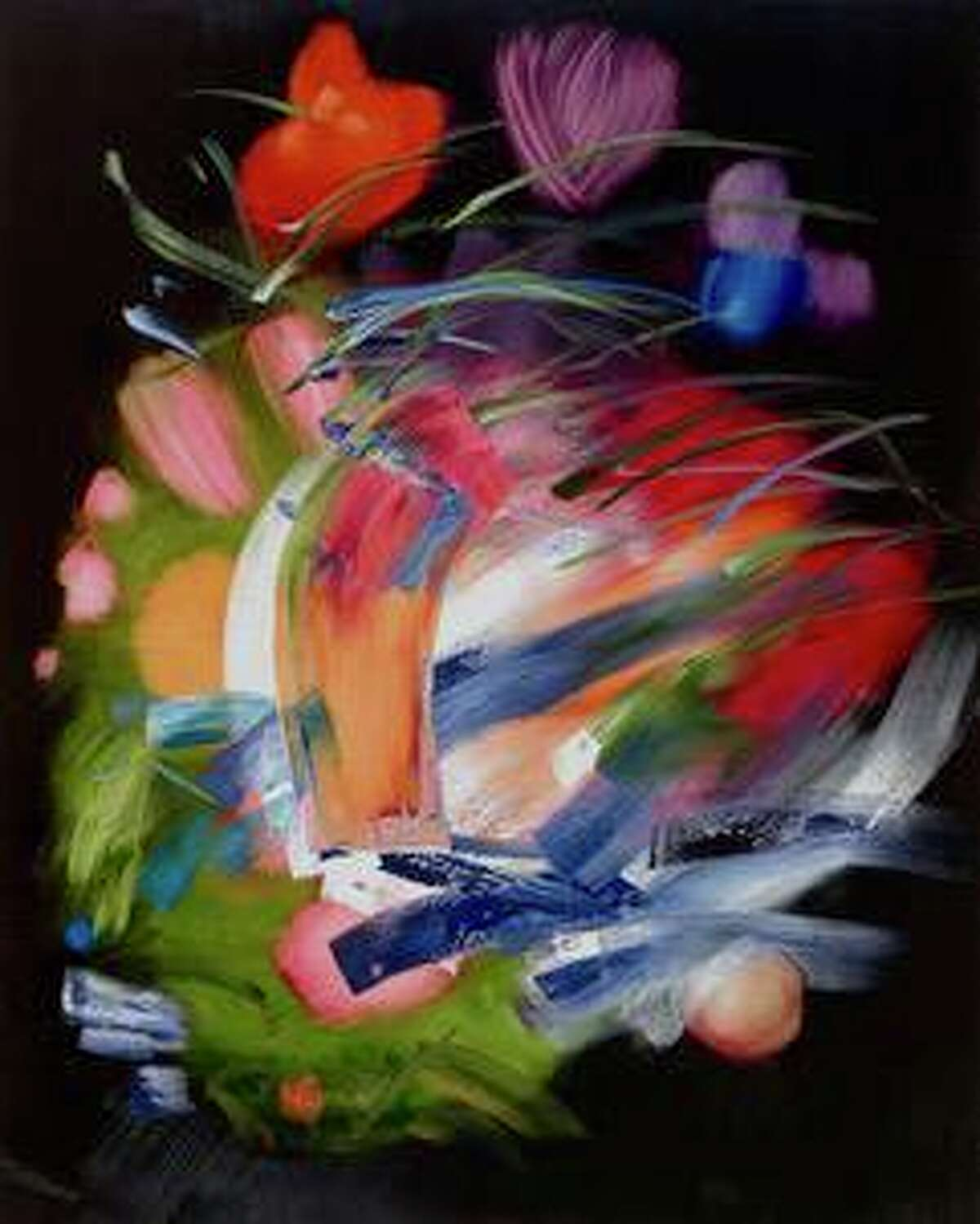 """The art gallery, Hollis Taggart Southport, is having an art exhibition that is titled: """"Reunion: A group exhibition,"""" at art gallery's 330 Pequot Ave. location, from Saturday, July 17, through Saturday, Sept. 4. """"Elise Ansel, (b. 1961,) Flowers in a Glass Vase VI, 2021, Oil on linen, 60 x 48 inches (152.4 x 101.6 cm.)"""""""