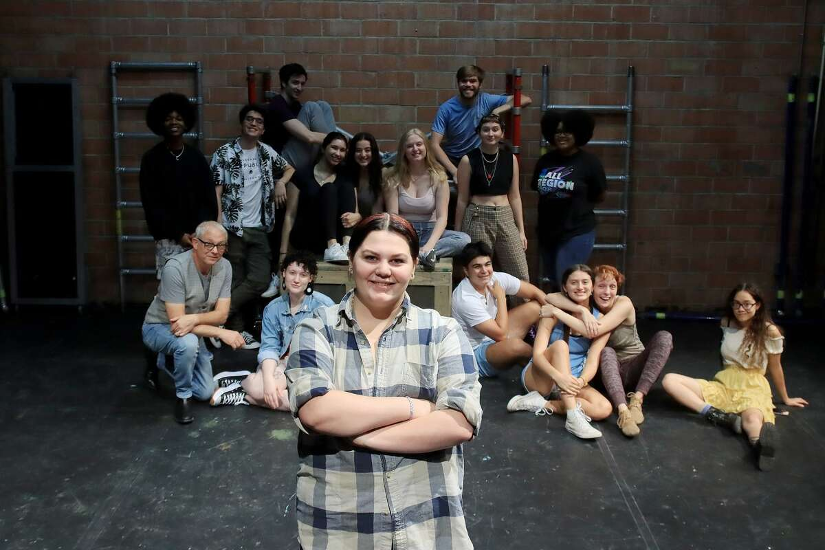"""Alvin High School student Angel Purl, front, says playing a role in 4th Wall Theatre's production of Shakespeare's """"As You Like It"""" has been """"an eye-opening"""" learning opportunity. The show is the first production of Summer Shakes, a new actor-training program."""