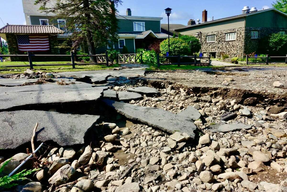 Flooding during Wednesday evenings thunderstorms caused damage at the restaurantOld Daley on Crooked Lake, in Averill Park