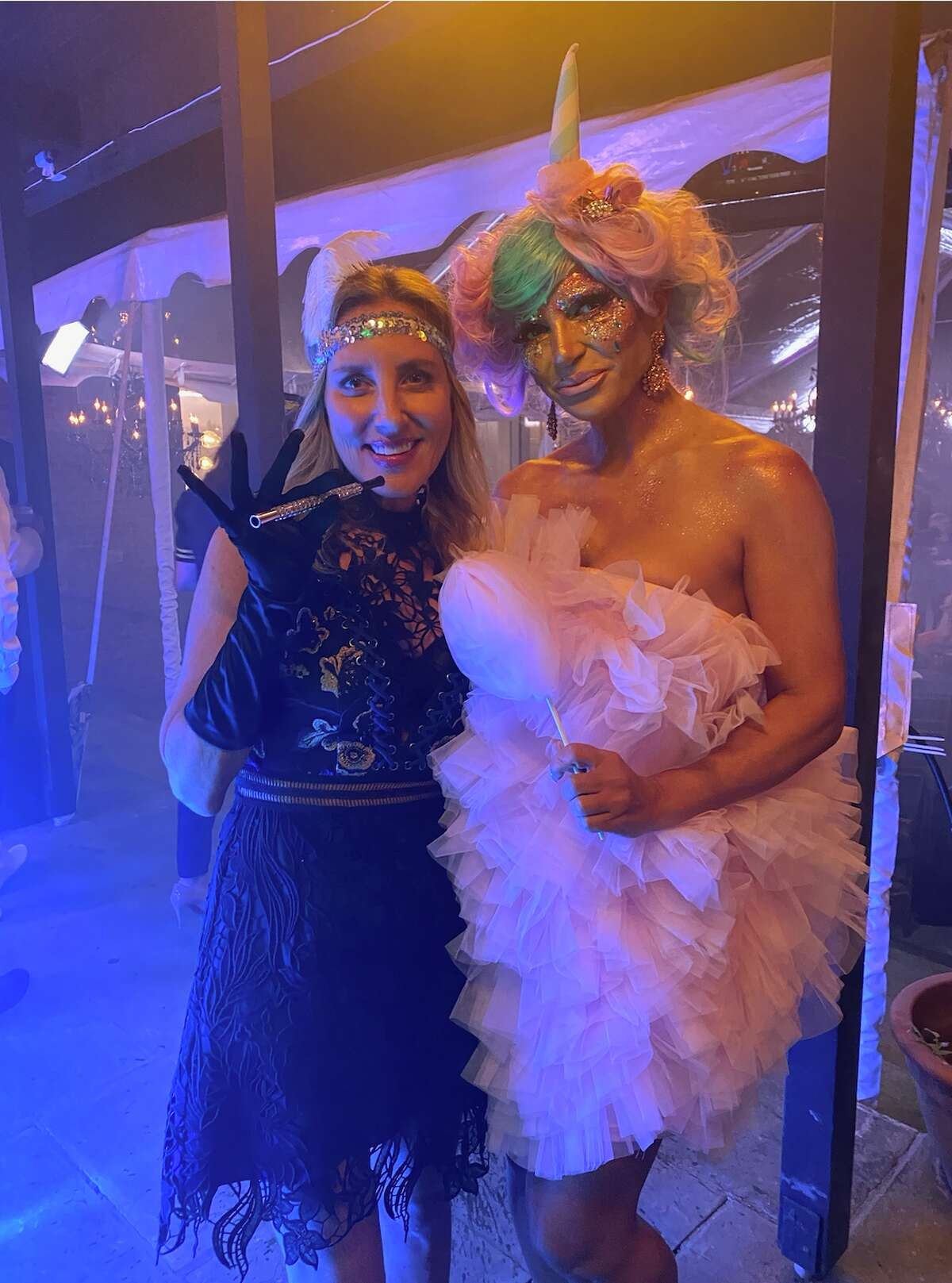 """Westport author Emily Liebert and """"Real Housewive of New Jersey"""" Teresa Giudice at a costume party at castmate Margaret Joseph's house."""