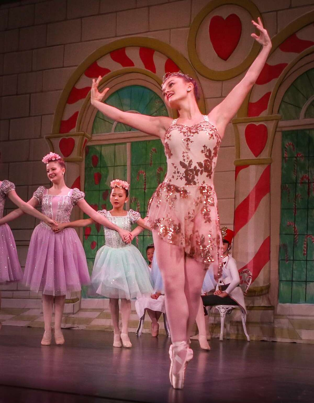 """Five students recently gave their farewell performance with The Ridgefield School of Dance on Friday, May 21, at the Klein Auditorium in Bridgeport. Pictured, Makena Davi portrays Dew Drop in """"The Nutcracker."""""""