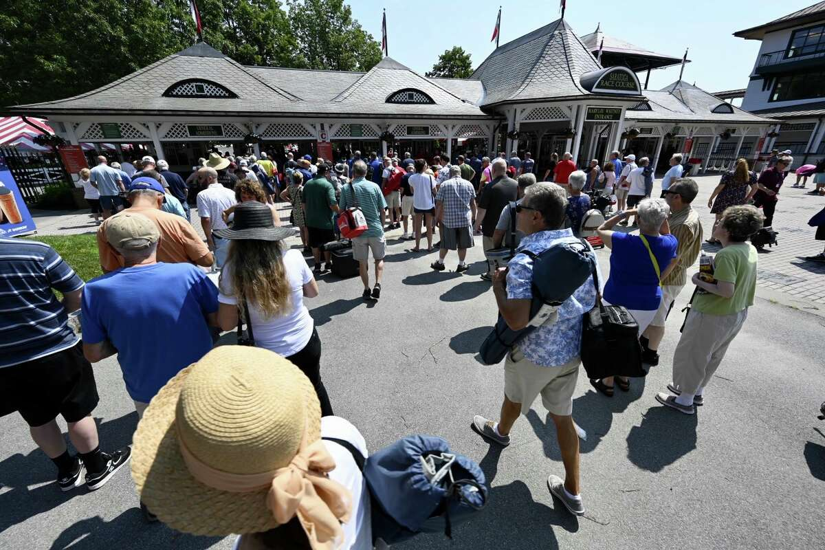 Fans were back at Saratoga Race Course for the opening of the historic track on Thursday.