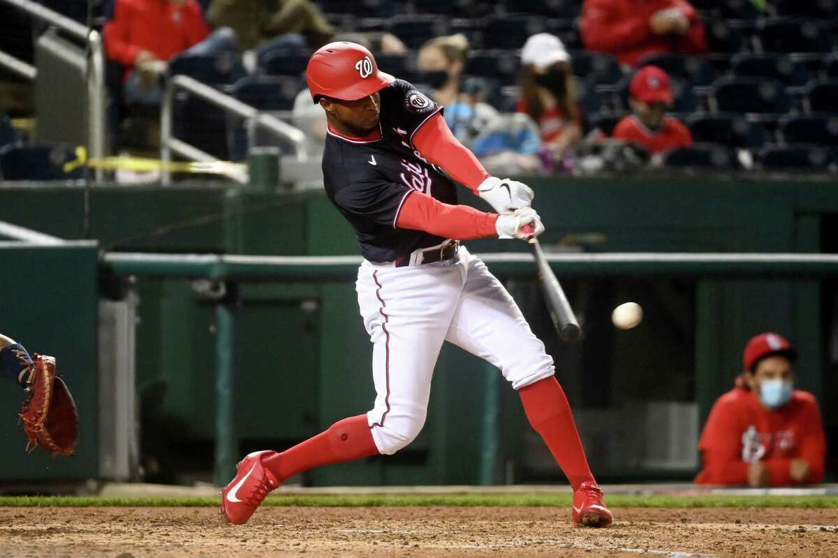 Washington Nationals center fielder Victor Robles hasn't stepped up his offensive game this season. At the all-star break, he was hitting just .209 with one home run. In order to challenge the first-place New York Mets, Robles needs to hit better.