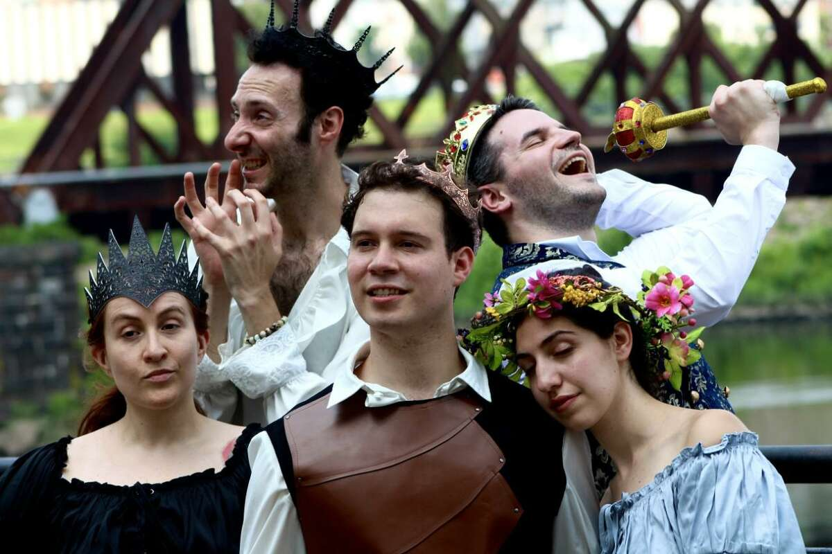 Actors in Adventures of Pericles, which opens July 15, 2021, at the Riverwalk in Shelton.