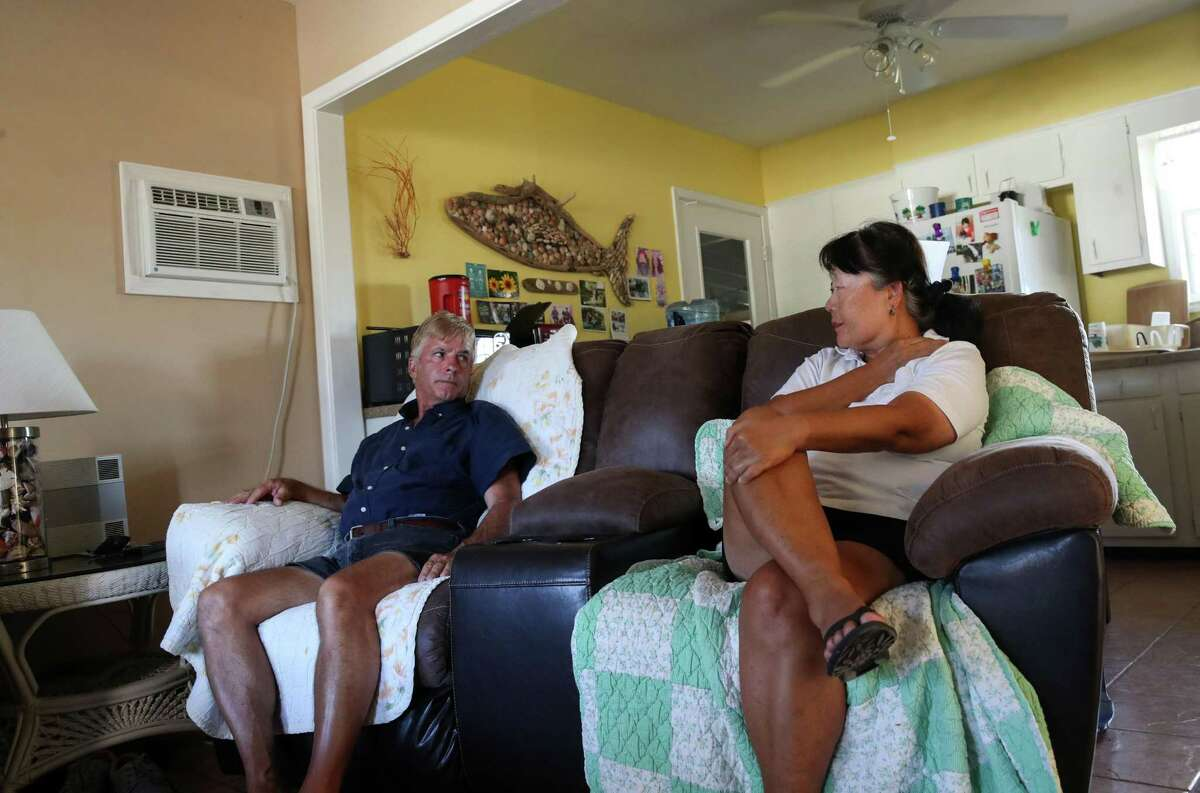 Sarah and Rob Avery talk about SpaceX on Tuesday, June 15, 2021, at their home in Boca Chica Village, an unincorporated community near Brownsville.